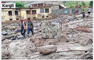 Massive damage in Kargil, Khawos worst hit
