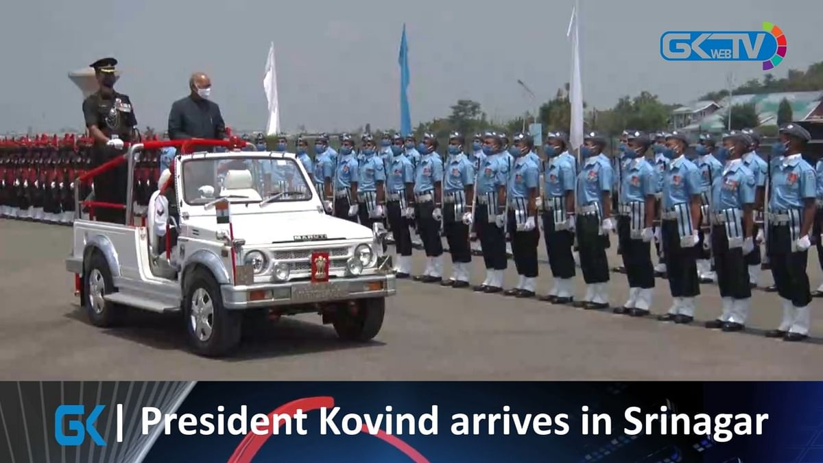 President Kovind arrives in Srinagar