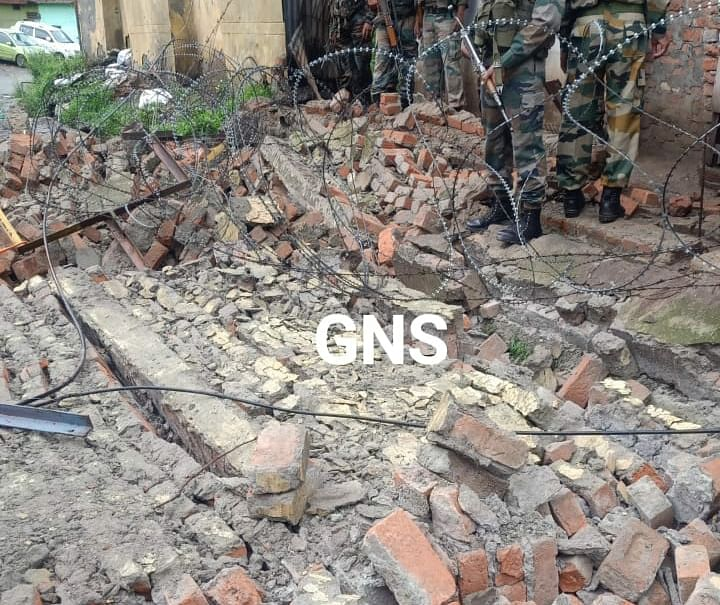 Municipal Council employee dies after Army's boundary wall collapses in Rajouri