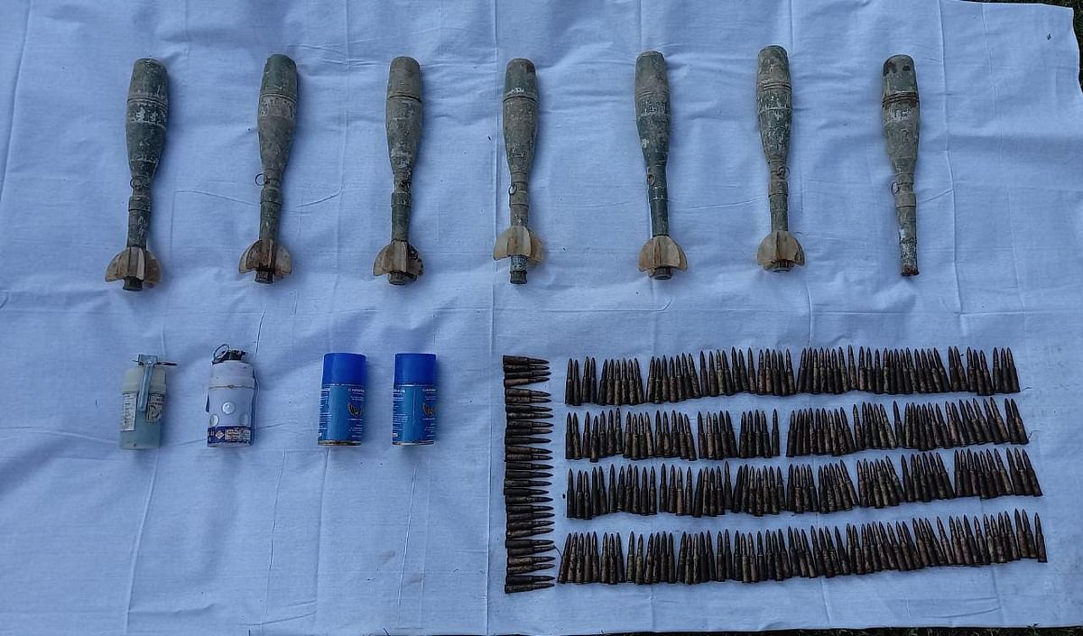 Warlike stores recovered in south Kashmir's Tral: police