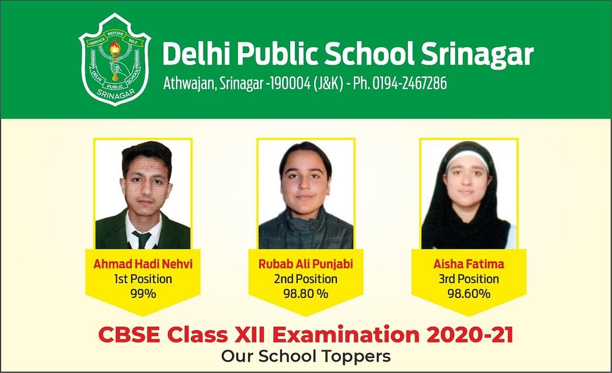 DPS Srinagar records 100 % results in CBSE Class 12 exam