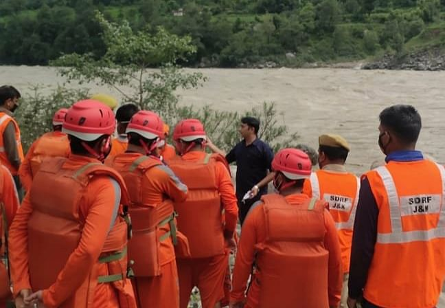 Woman's body fished out from Chenab river after five days, her husband, two children still missing