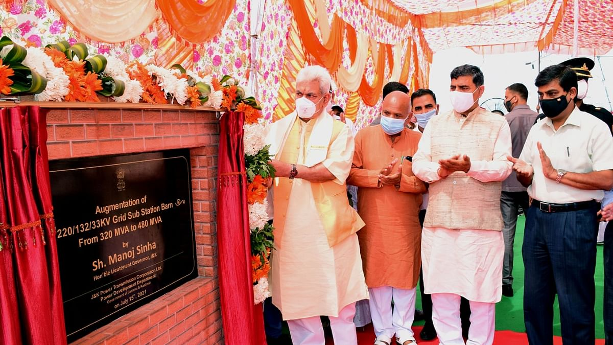Major push to strengthening power sector in J&K: LG inaugurates 35 power projects worth Rs 44.14 crore
