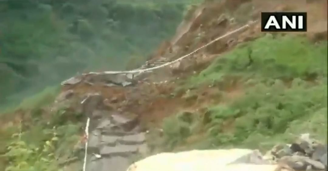 Watch: Entire mountain rolls down in Himachal, scary video goes viral