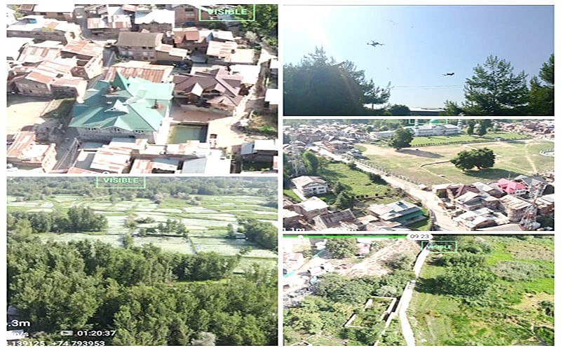 INDEPENDENCE DAY   Srinagar Police uses drones for surveillance over Anchar, adjacent areas