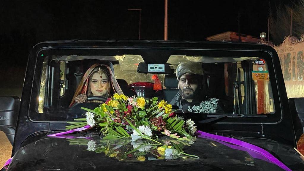 Watch: Kashmiri bride drives groom home in SUV, breaks Internet