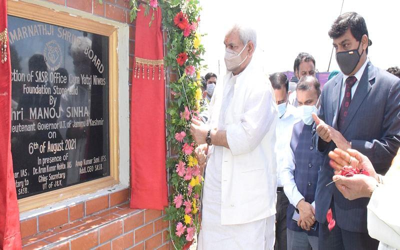 LG lays foundation of SASB office-cum-Yatri Niwas
