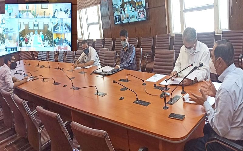 Advisor Bhatnagar reviews preparations of SDD for 75th Independence Day celebrations