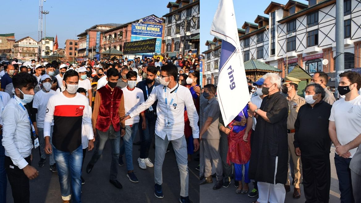 LG flags off 'Run for Polythene-Free Srinagar' from Ghanta Ghar in Lal Chowk