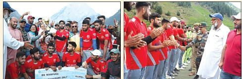 Cricket tournament organized by Army concludes
