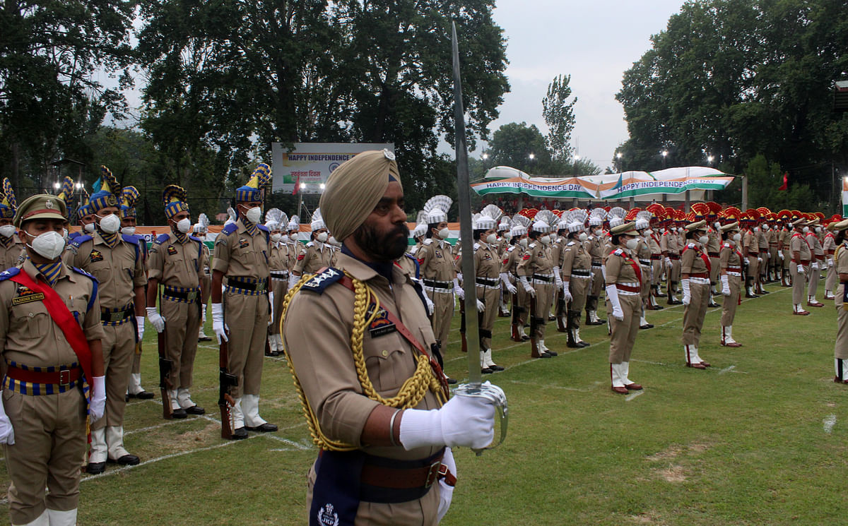 The Independence Day parade consisted of various contingents of BSF, CRPF, ITBP, SSB, JKAP IRP, JKP women contingents, SDRF, Fire and Emergency services, J&K Police, Forest Protection Force besides Brass Bands of JKP, BSF, and JKP Pipe band.