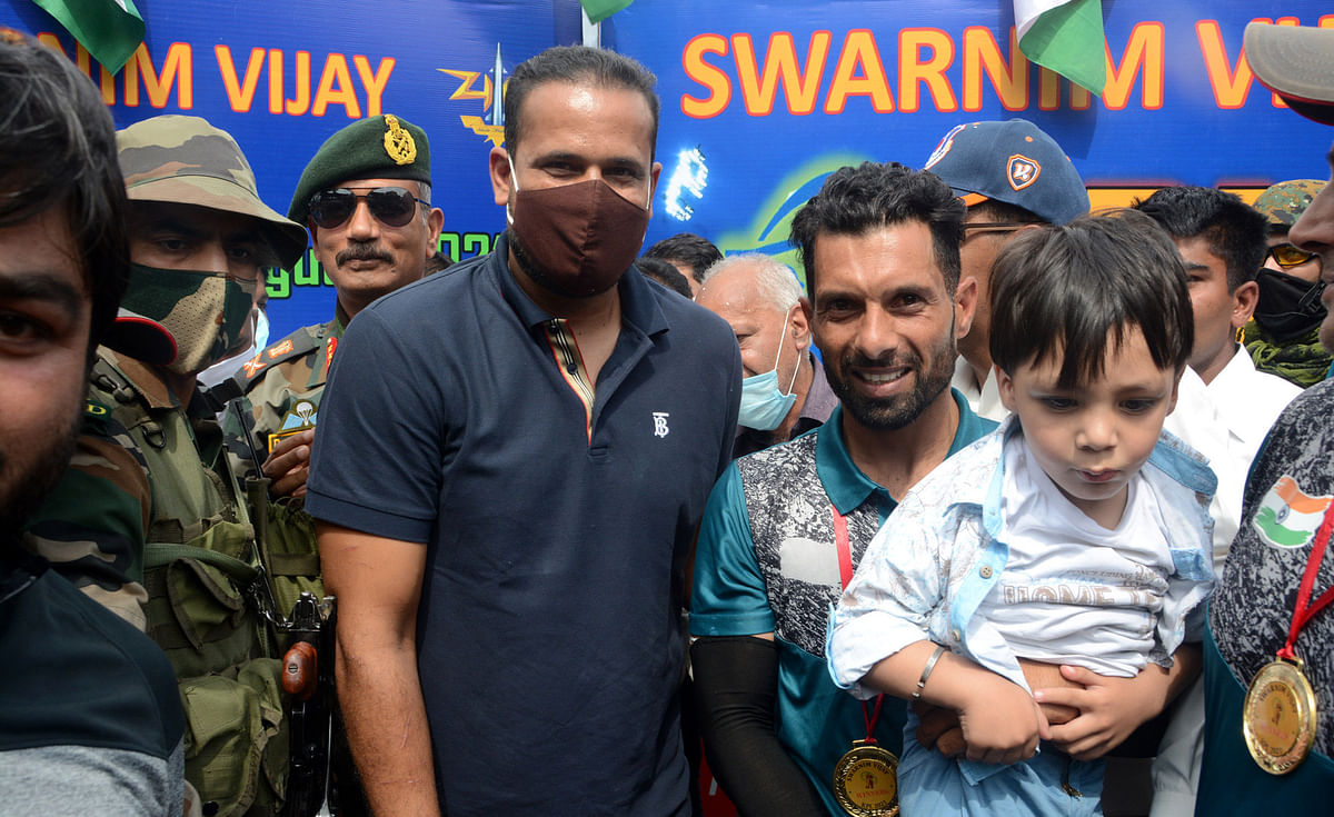 The match was played at Sheri Kashmir Stadium Sonwar in Srinagar where former India allrounder Yusuf Pathan along with his son and General-Officer-Commanding (GOC) of the Srinagar-based 15 Corps, Lt General DP Pandey and Divisional Commissioner Kashmir, PK Pole were in attendance.