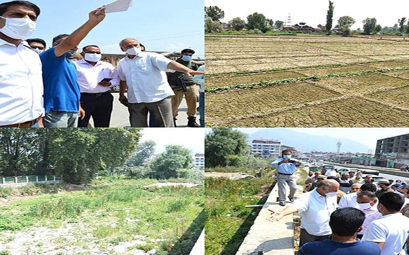 Div Com Kashmir inspects progress on STPs in Srinagar