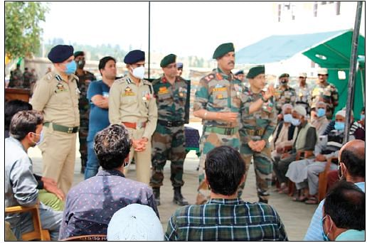 In a first, top security officers reach out to families of active militants