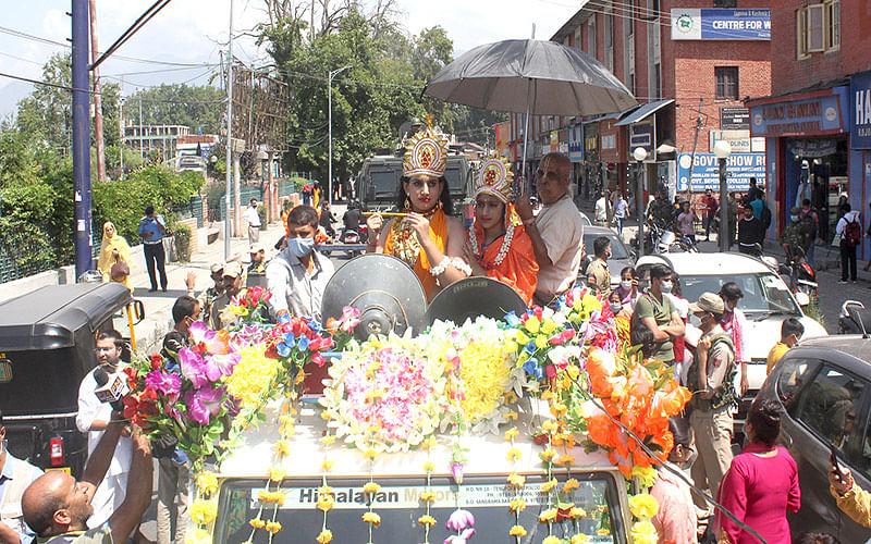Janmashtami procession taken out in Srinagar after 2 years