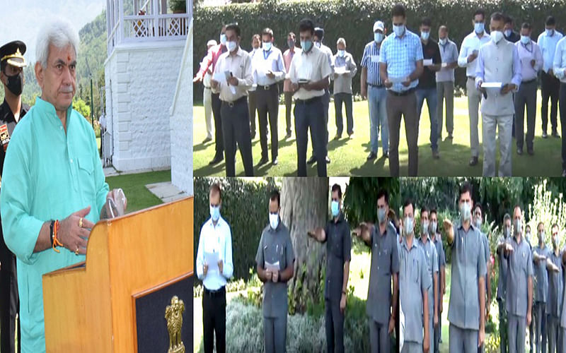 'Sadbhavana Diwas' | LG administers pledge to officials