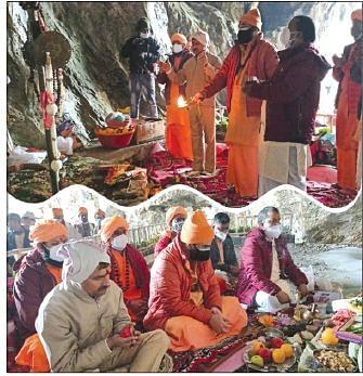Shri Amarnathji Yatra 2021 concludes CEO SASB, Mahant Deependra Giri perform Samapan Poojan