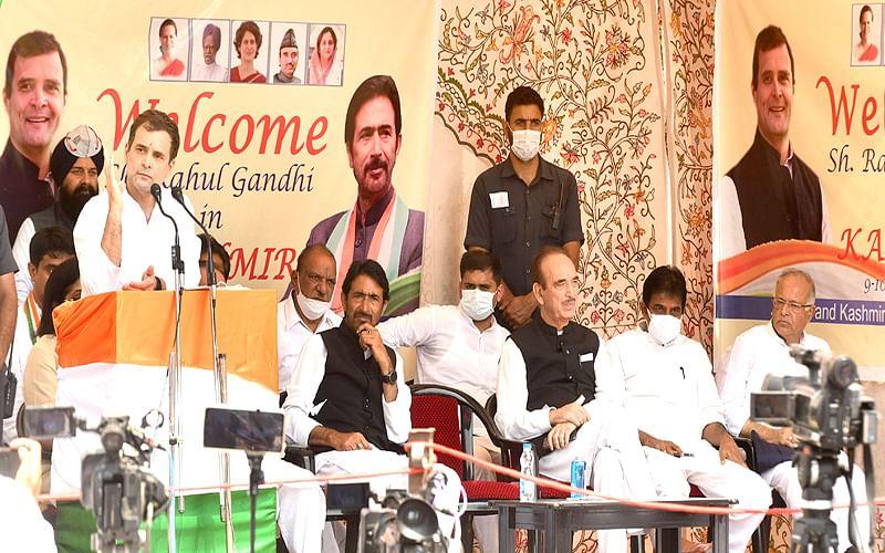 Rahul Gandhi demands restoration of statehood for J&K