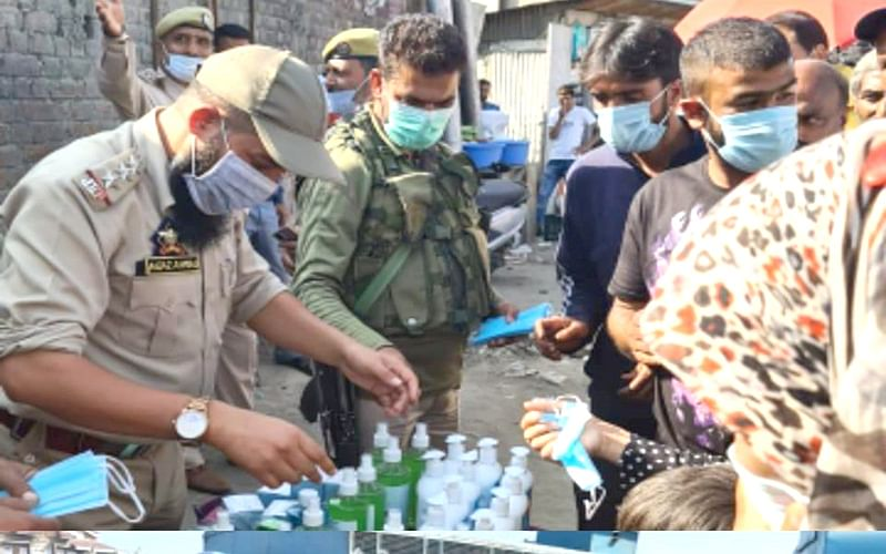 Police distributes Covid19 safety kits among people