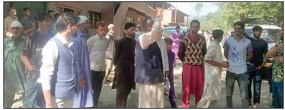 Locals protest against 'pathetic' road condition in Zachaldara