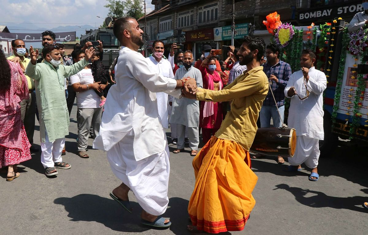Hindus celebrate the festival by fasting, singing,  praying together and visiting Krishna or Vishnu temples. Dance drama popularly known as Rasa Lila or Krishna Lila is also held to showcase the legend of Lord Krishna among many Hindu communities.