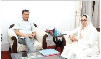 Darakhshan Andrabi calls on Union MoS Home