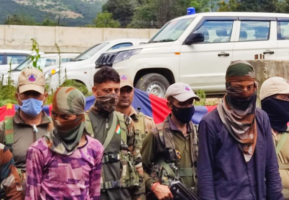 Two newly recruited Hizb militants held in Kishtwar with arms and ammunition