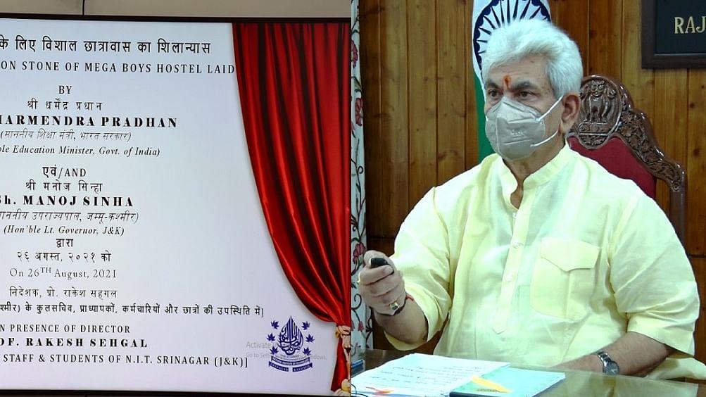 LG lays foundation stone for 700-bedded boys hostel at NIT Srinagar