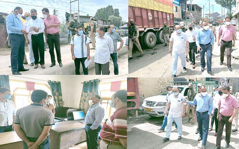 Div Com visits RTO office, Parimpora Bus Stand, Transport Nagar