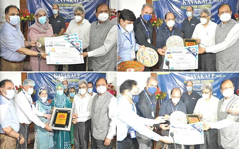 KAYAKALP 2020-21 winners felicitated in Srinagar