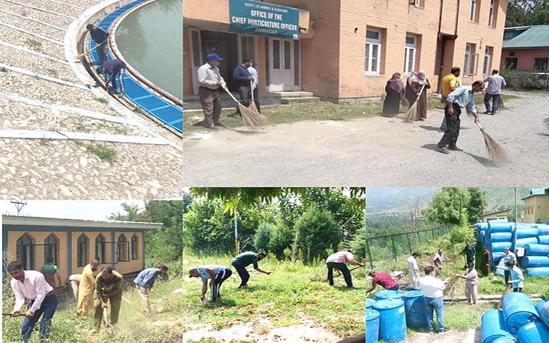 Azadi Ka Amrut Mahotsav   Srinagar admin launches special drive for cleaning of water supply treatment plants, reservoirs
