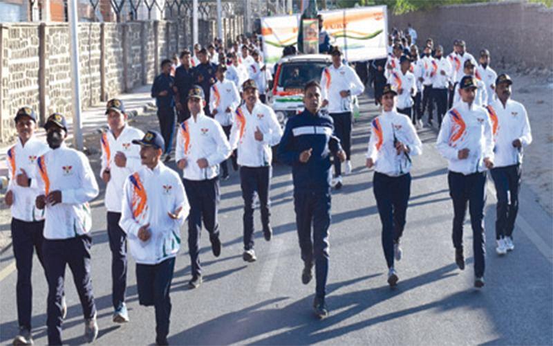 Run for Fun organized in Leh