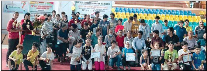 28th District Srinagar badminton championship concludes