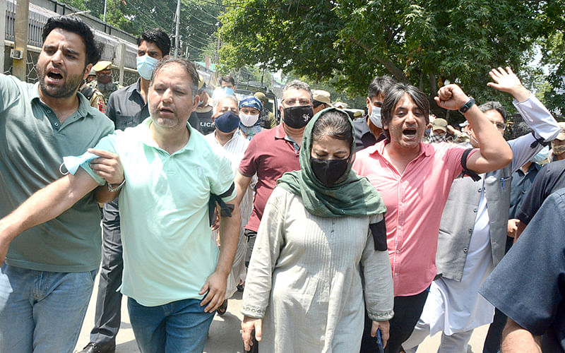 Mehbooba leads PDP protest
