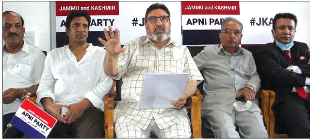 Apni Party convenes Core Group meet  Haven't given up on restoration of J&K's identity: Altaf Bukhari