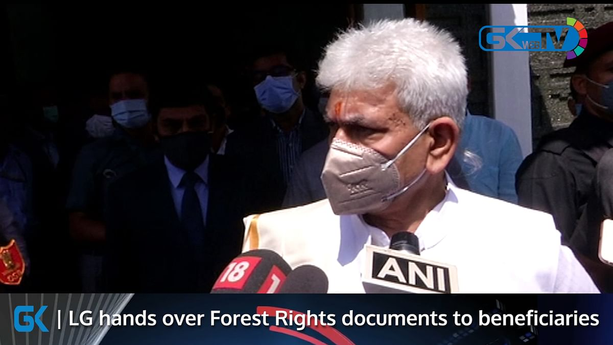 LG hands over Forest Rights documents to beneficiaries