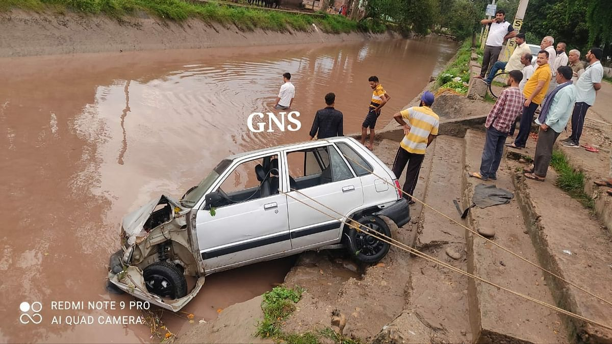 Infant among four die as car plunges into canal in Jammu