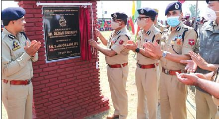 DGP Dilbag Singh inaugurates open air gym in Police Complex Zewan