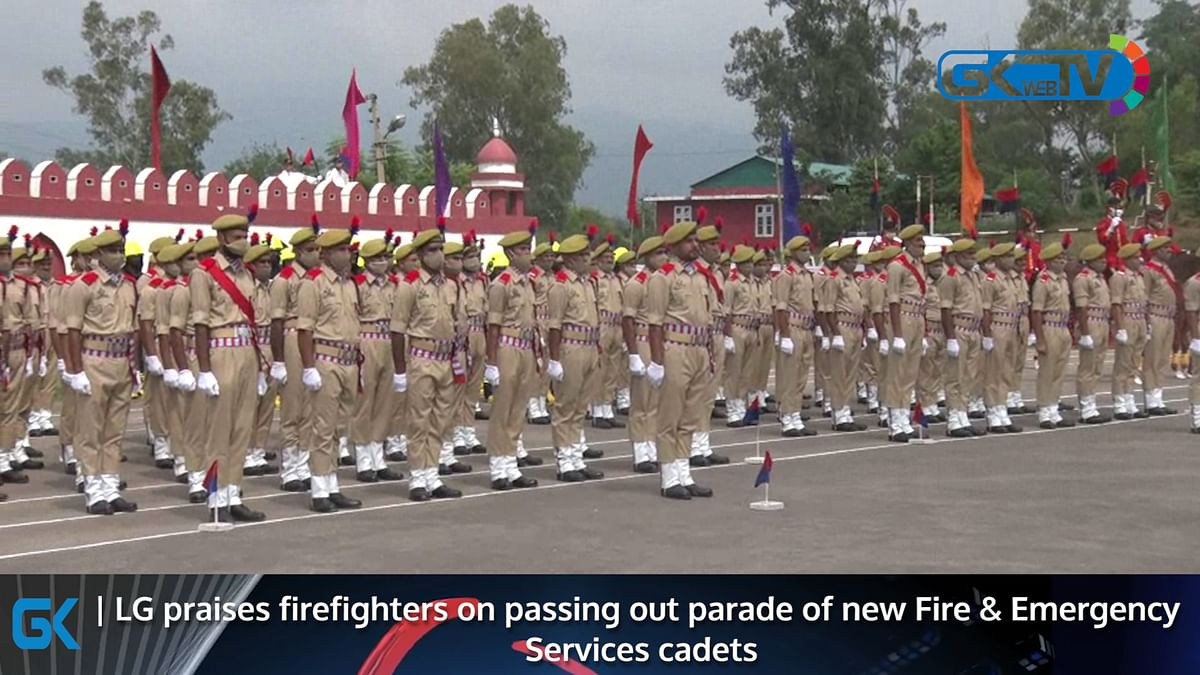 LG praises firefighters on passing out parade of new Fire & Emergency Services cadets