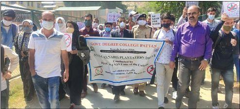 GDC Pattan holds anti-cannabis plantation drive