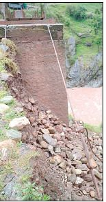 Rains damage Kangota bridge