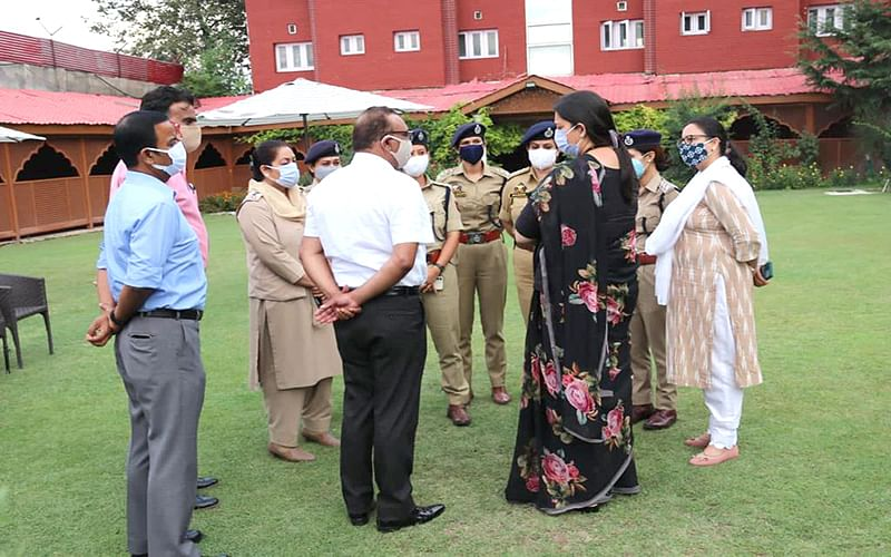 Union Minister interacts with JKP officers