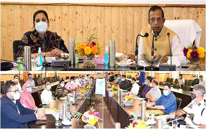 Union MoS for Industries, Commerce reviews developmental scenario in Ganderbal