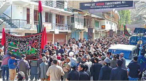 Hundreds attend Arbayeen processions in Kargil