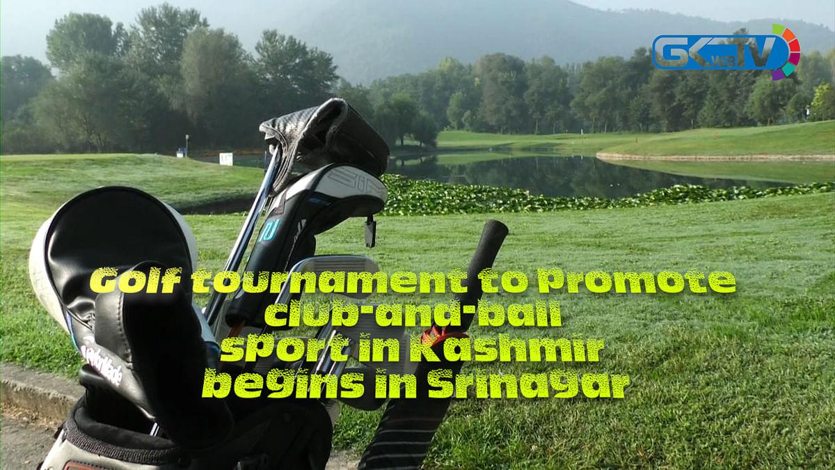 Golf tournament to promote club-and-ball sport in Kashmir begins in Srinagar