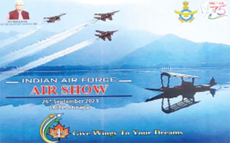 سری نگر میں طیاروں کی گونج، جھیل ڈل کی فضا میں ایئر شو کی تیاریاں مکمل