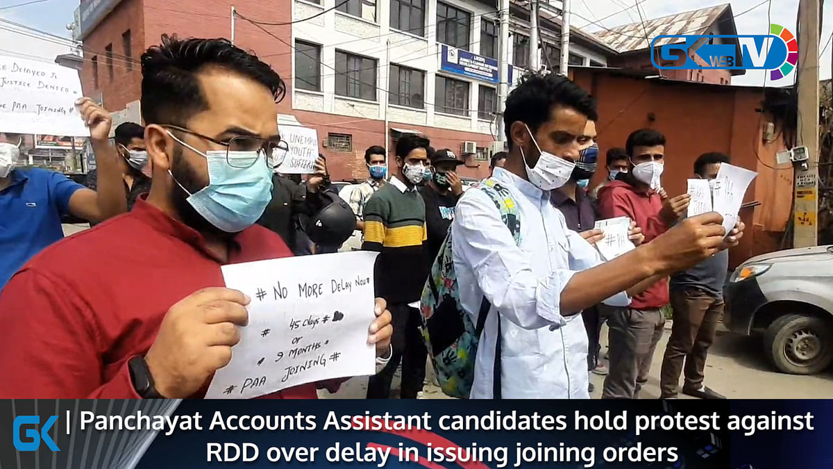 Panchayat Accounts Assistant candidates hold protest against RDD over delay in issuing joining orders