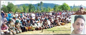 Last rites of Kupwara Army man held
