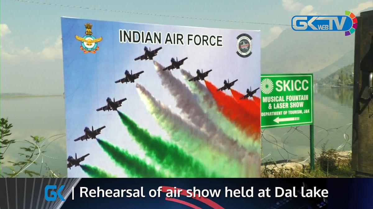 Rehearsal of air show held at Dal lake