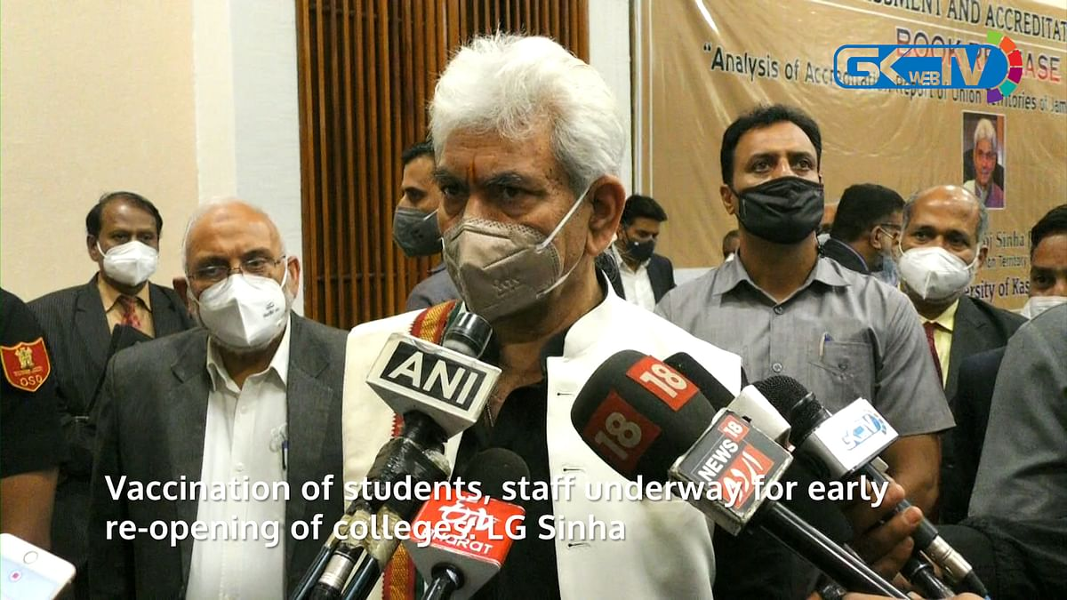 Vaccination of students, staff underway for early re-opening of colleges: LG Sinha